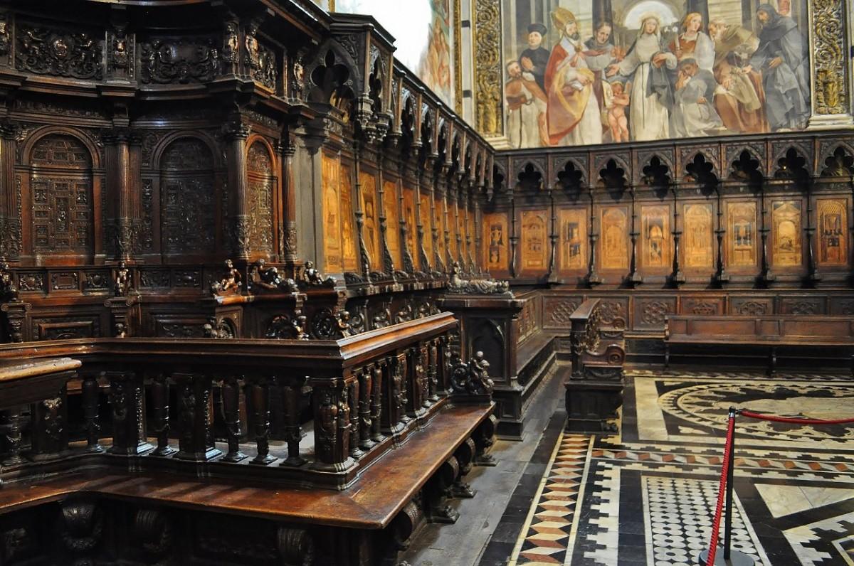 Zdjęcia: Siena, Toskania, Siena, katedra, stalle, WłOCHY