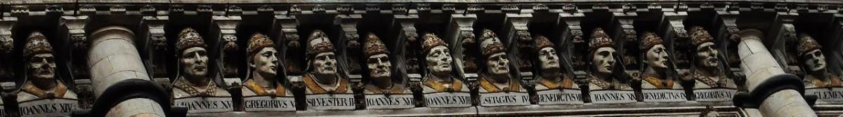 Zdjęcia: Siena, Toskania, Siena, katedra, poczet papieży, WłOCHY