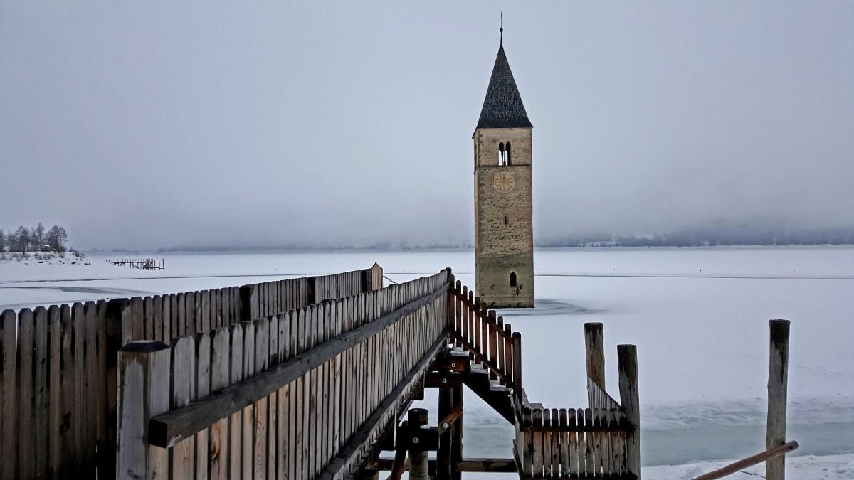 Zdjęcia: Jezioro Resia, Południowy Tyrol,  Lago di Resia, WłOCHY