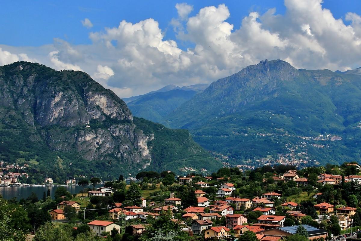 Zdjęcia: wzdłuż jeziora Como, Lombardia, Alpejskie widoki, WłOCHY