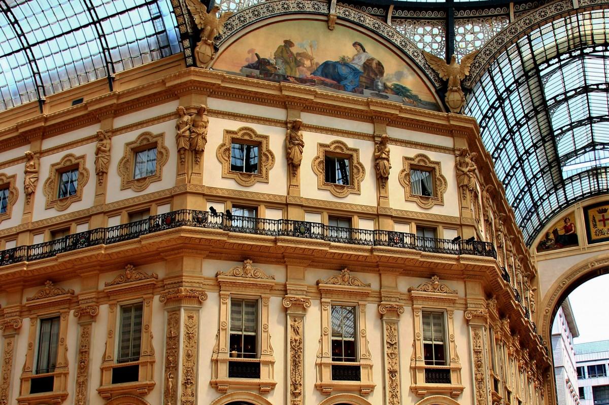 Zdjęcia: Mediolan Galeria Vittorio Emanuele, Lombardia, Mediolan - Galeria V.Emanuele, WłOCHY