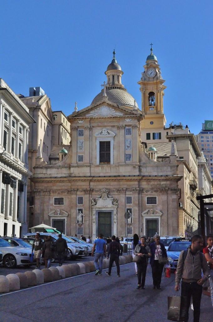 Zdjęcia: Genua, Liguria, Genua, Chiesa del Gesù e dei Santi Ambrogio e Andrea, WłOCHY