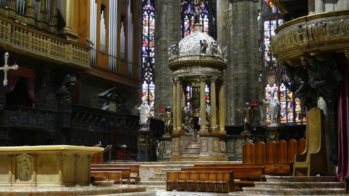Zdjęcia: Milan, Lombardia , Katedra Narodzenia NMP - prezbiterium, WłOCHY