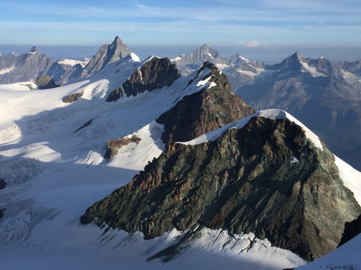 Zdjęcia: Masyw Monte Rosa, Alpy Penińskie, Widok ze szczytu, WłOCHY