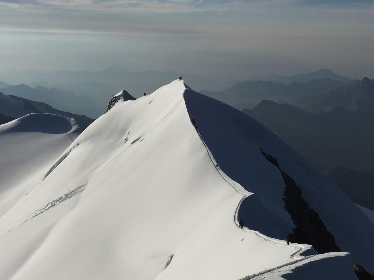 Zdjęcia: Masyw Monte Rosa, Alpy Penińskie, Pomału do celu, WłOCHY