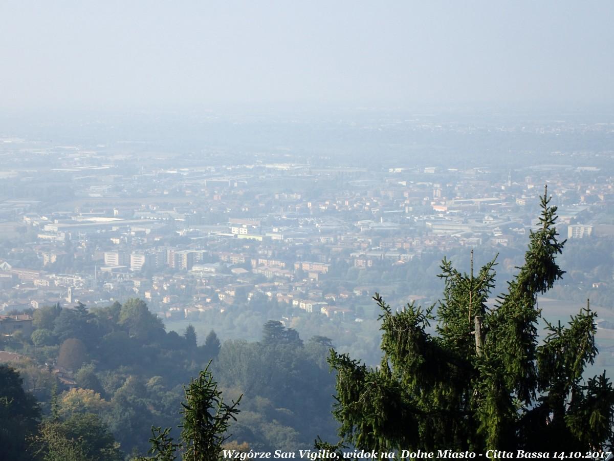 Zdjęcia: Bergamo - Citta Bassa (dolne miasto), Lombardia, Bergamo wzgórze San Vigilio, widok na dolne miasto - Citta Bassa, WłOCHY