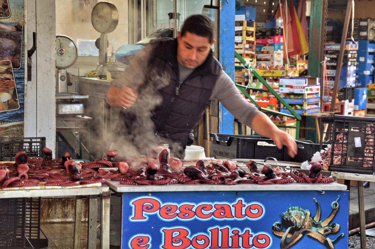 Zdjęcia: Palermo, Sycylia, Komu ośmiorniczkę, WłOCHY