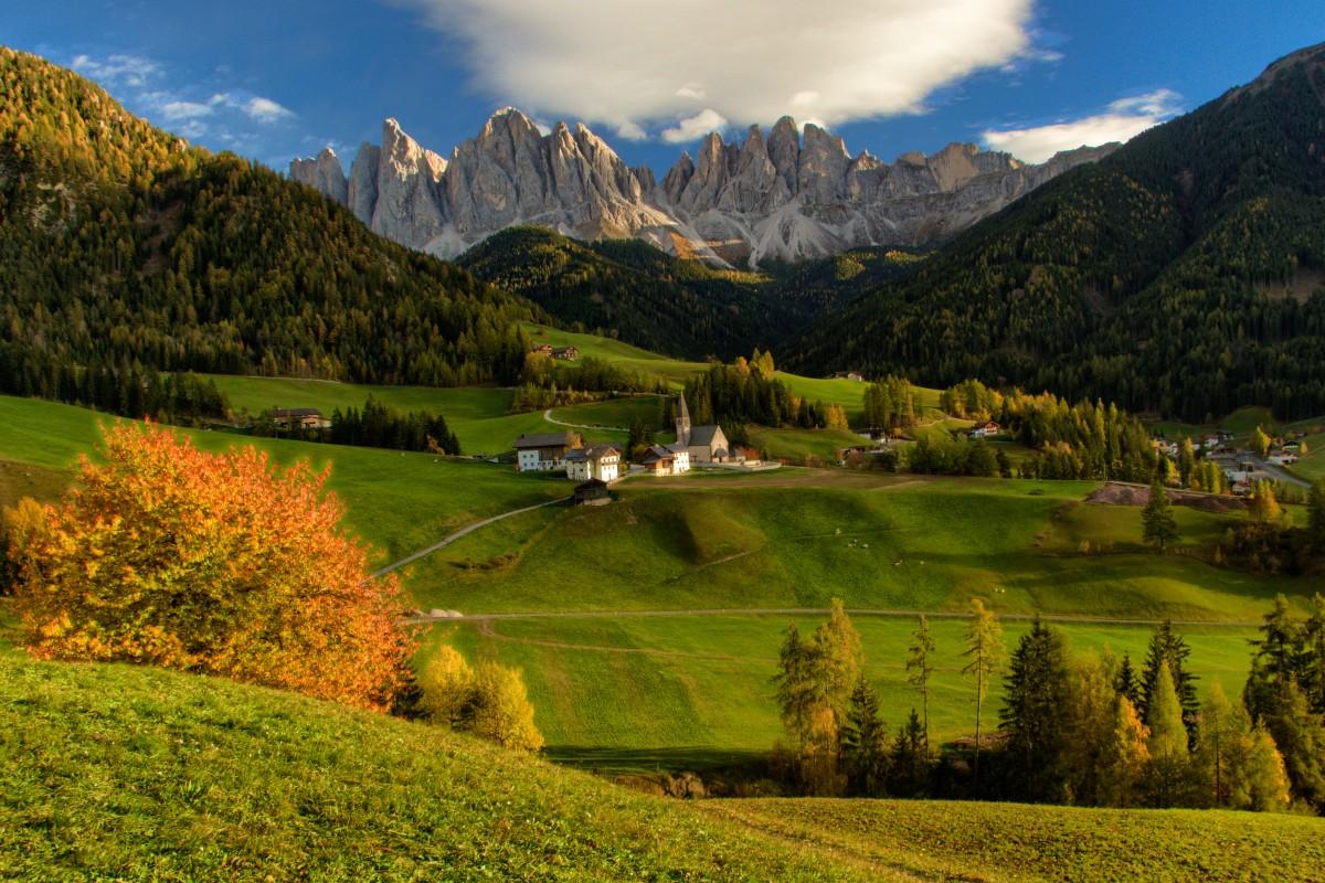 Zdjęcia: Wlochy, Dolomity, Jesienne  Dolomity, WłOCHY