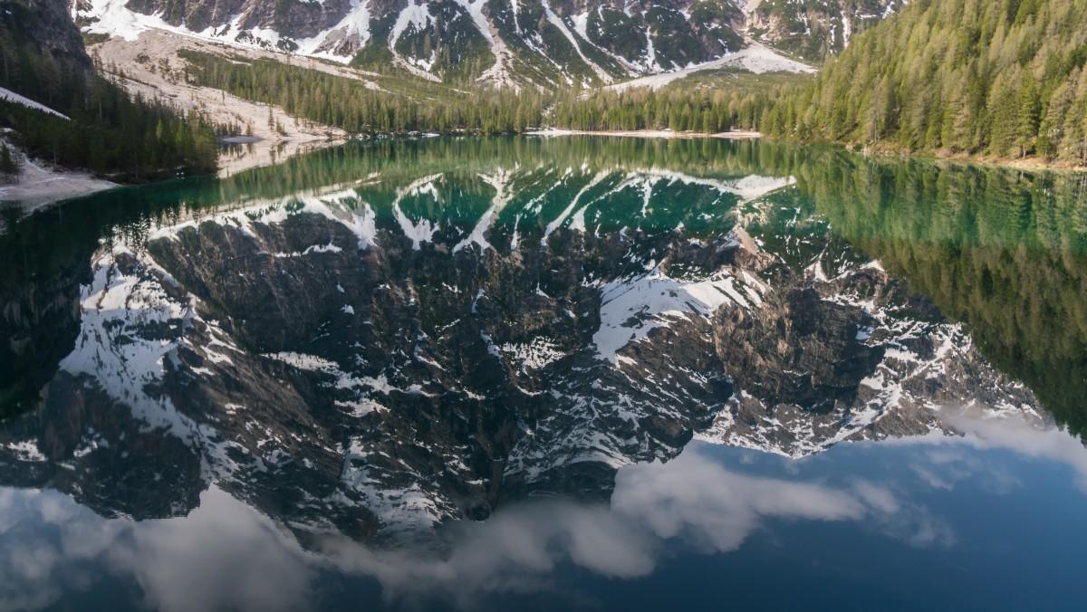 Zdjęcia: Lago Di Braies, Dolomity, Lustro, WłOCHY