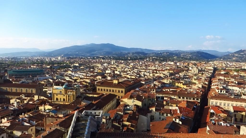 Zdjęcia: Florencja, Toskania, panorama Florencji - widok z dzwonnicy, WłOCHY