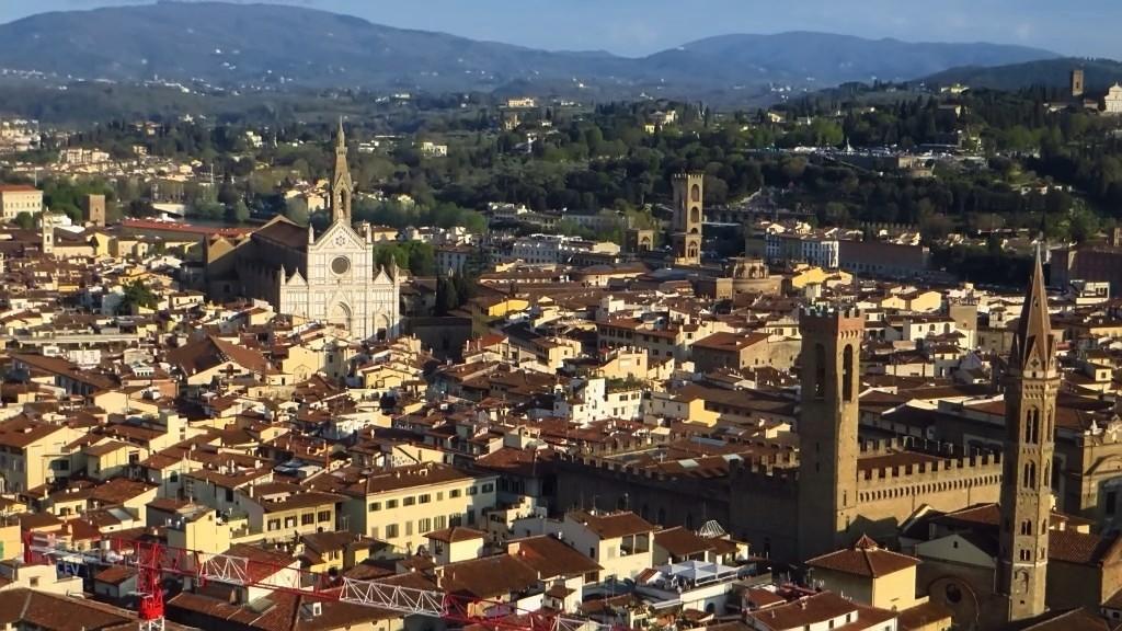Zdjęcia: Florencja, Toskania, panorama Florencji z dzwonnicy katedry, WłOCHY