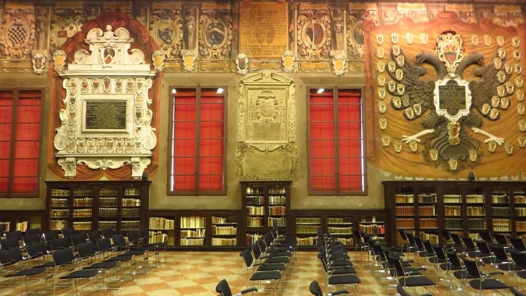 Zdjęcia: Bolonia, Emilia-Romania, Palazzo dell'Archiginnasio, WłOCHY