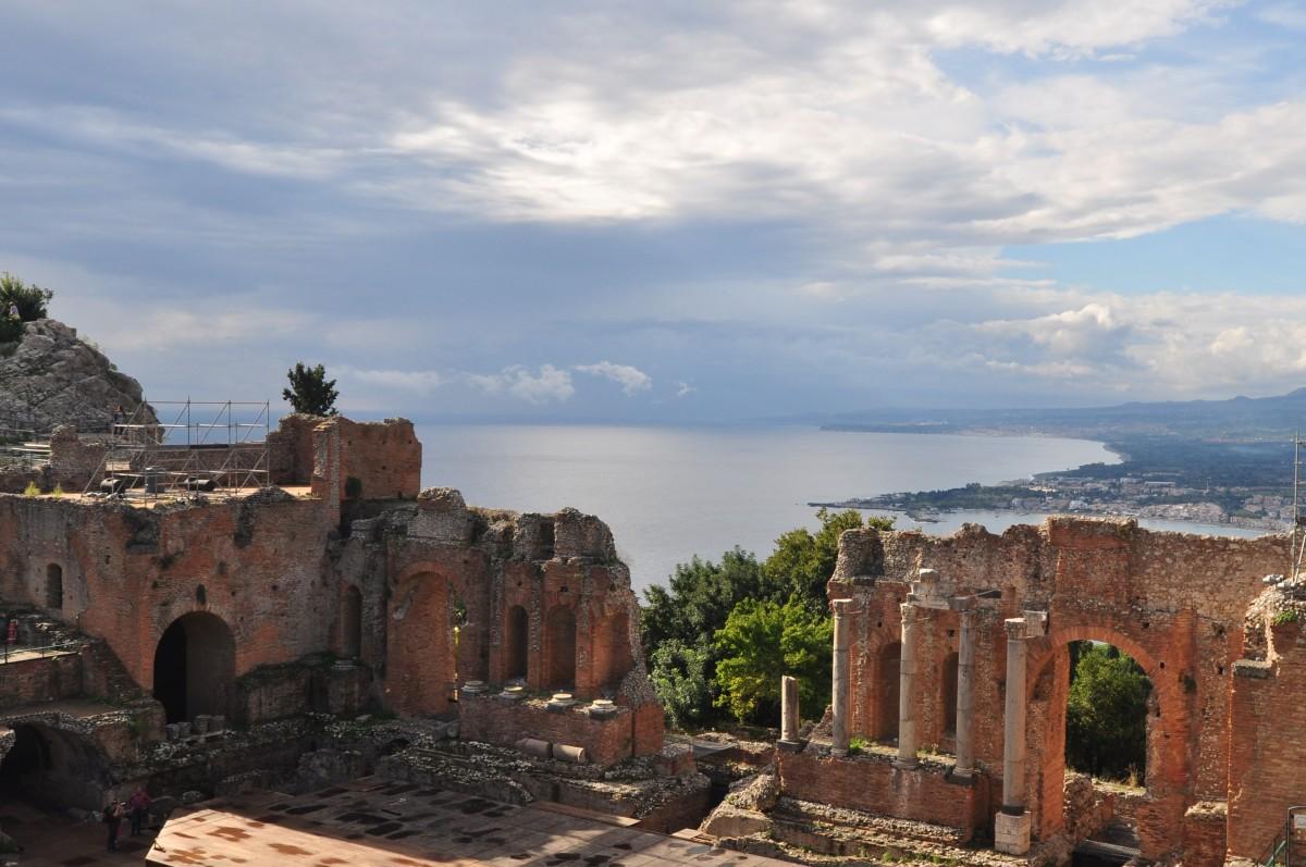 Zdjęcia: Taormina, wschód, Teatr w Taorminie, WłOCHY
