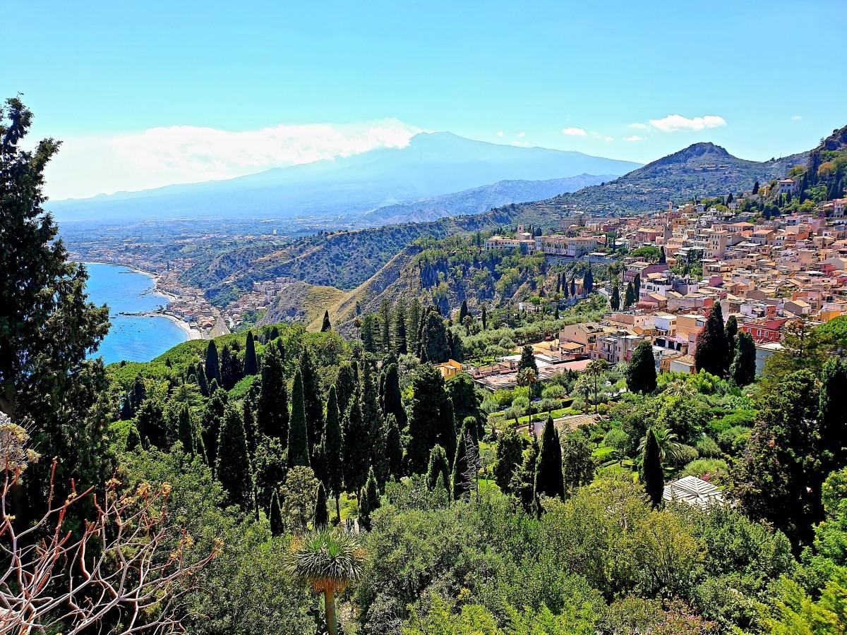 Zdjęcia: Taormina, Sycylia, Widok na Etnę, WłOCHY