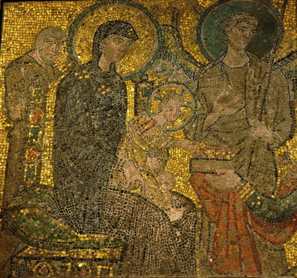 Zdjęcia: Rzym , Lazio, Rzym, starochrześcijańska mozaika , WłOCHY