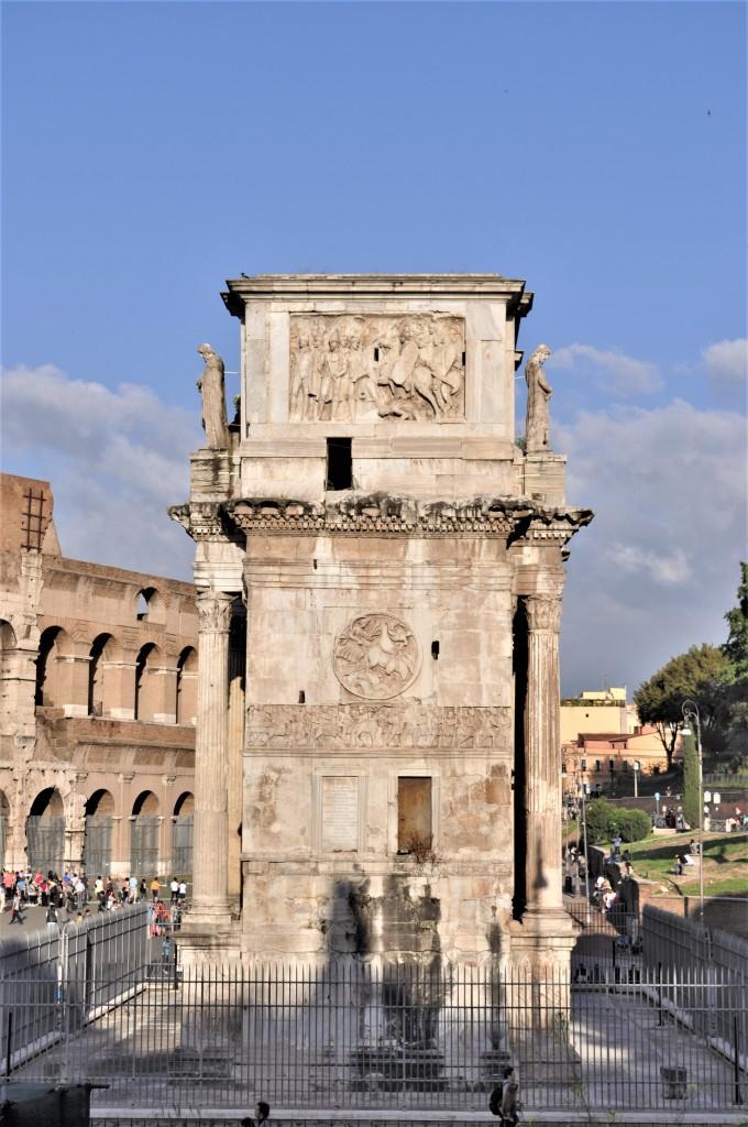 Zdjęcia: Rzym, Lazio, Rzym, Łuk Konstantyna, bok, WłOCHY