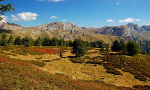 Zdjecie WłOCHY / Alpy Liguryjskie / Panorama spod szczytu Mont Bertrand (2481m npm) na centralną cześć pasma / Zapach jesieni..