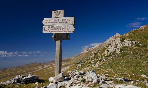 Zdjęcie WłOCHY / Gran Sasso dItalia / Przełęcz Vado di Siella / Apeniny
