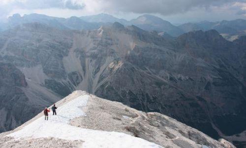Zdjecie WłOCHY / Alpy / Dolomity / Zejście granią z Tofana di Rozes (3225 m)