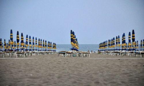 Zdjecie WłOCHY / północny adriatyk  / lignano  / plaża po zachod