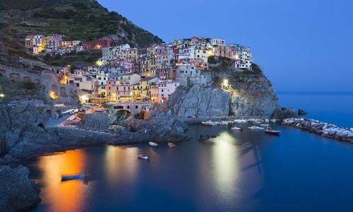 Zdjecie W�OCHY / Liguria / Manarola / Po zachodzie sl