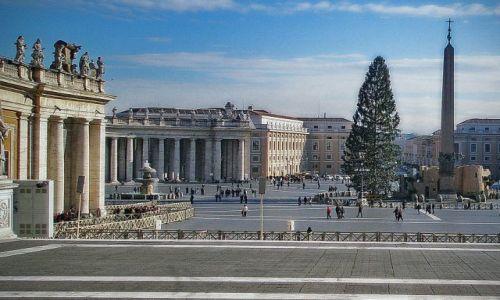 Zdjęcie WłOCHY / Lazio / Rzym / Plac św Piotra zimą