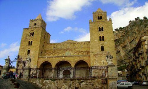 WłOCHY / Sycylia / Cefalu / katedra w Cefalu