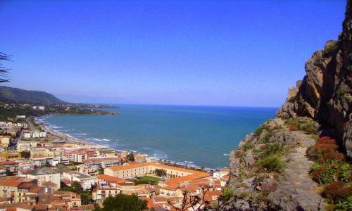 W�OCHY / Sycylia / Cefalu / pierwszy widok z La Rocca