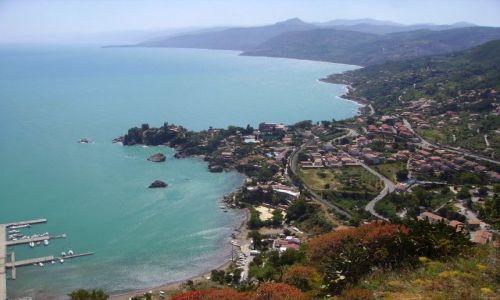 Zdjecie WłOCHY / Sycylia / Cefalu - skała La Rocca / panorama wybrzeża widziana z La Rocca