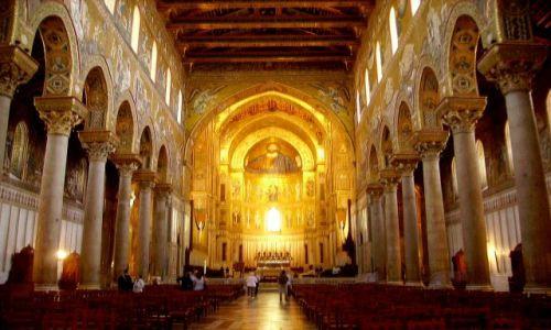 Zdjecie WłOCHY / Sycylia / Monreale / wnętrze  katedry w Monreale