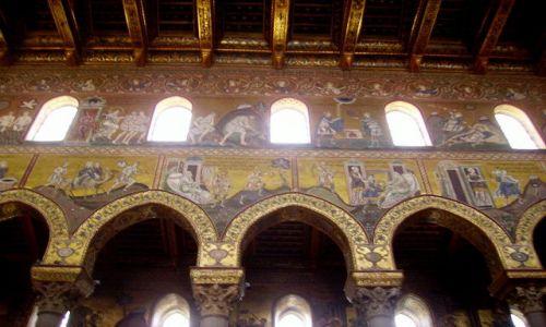 Zdjecie WłOCHY / Sycylia / Monreale / fragmenty mozaiki bizantyjskiej
