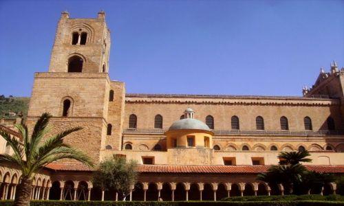WłOCHY / Sycylia / Monreale / jeszcze jedno spojrzenie na zabudowania klasztoru
