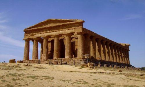 WłOCHY / Sycylia / okolice Agrigento / Tempio di Concordia - 430 r p.n.e