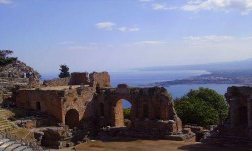 Zdjecie WłOCHY / Sycylia / Taormina  / widok z amfiteatru