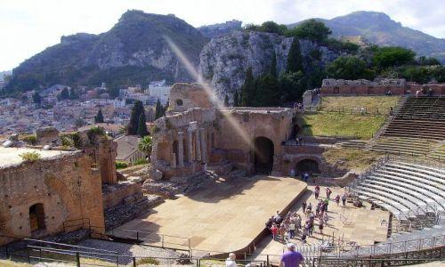 Zdjecie WłOCHY / Sycylia / Taormina - Teatro Greco / odbicie jak wysłanie sygnału