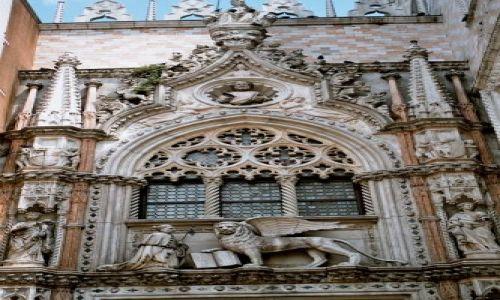 Zdjecie W�OCHY / brak / Wenecja - nad wej�ciem do Pa�acu Do��w / Wenecja