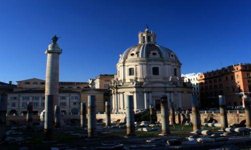Zdjecie WłOCHY / Lazio / Rzym / Wieczór na Forum Trajana