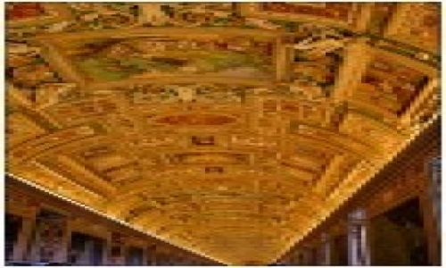 Zdjecie WłOCHY / Watykan / Muzeum Watykańskie / Sklepienie Muzeum Watykańskiego