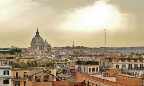 Zdjęcie WłOCHY / Lazio / Rzym / Plac Hiszpański- widok z balustrady kościoła