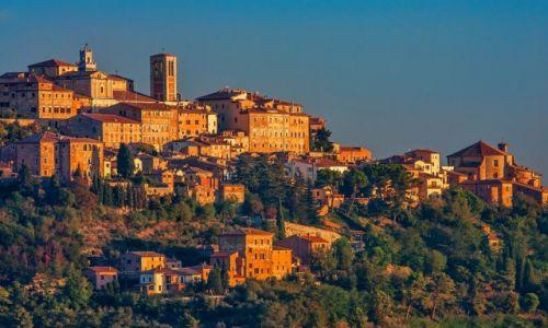 Zdjecie WłOCHY / Toskania / Toskania / widok na Montepulciano