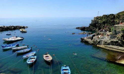 Zdjecie WłOCHY / Liguria / Cinque  Terre / widok z wieży zamku na zatokę w Monteroso a Mare