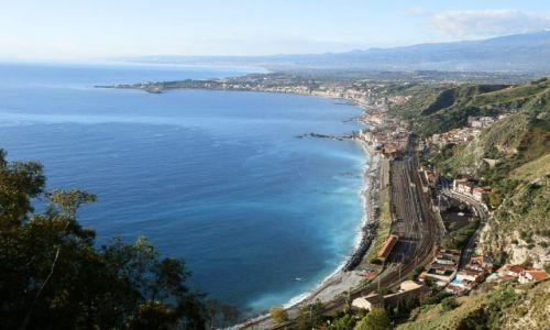 Zdjecie WłOCHY / Sycylia / Taormina / Widok z Taorminy