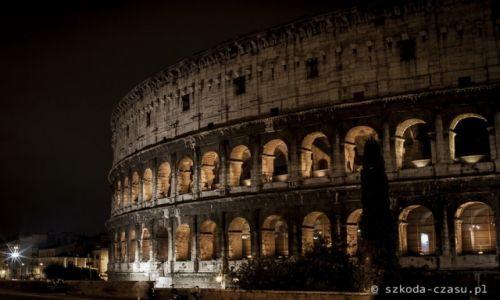 Zdjecie WłOCHY / Rzym / Koloseum / Rzym Koloseum Nocą 3