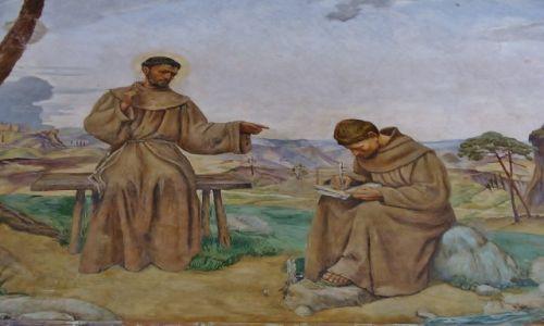 Zdjęcie WłOCHY / Toskania / La Verna / La Verna, Franciszek dyktuje regułę