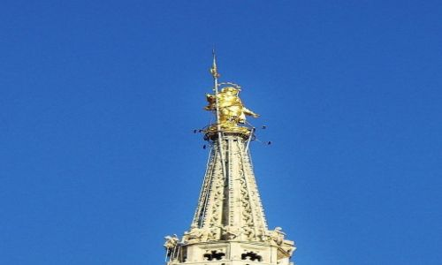 Zdjęcie WłOCHY / Lombardia / Mediolan / Mediolan, katedra, szczyt