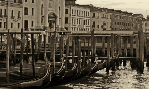 Zdjęcie WłOCHY / płn. Włochy / Wenecja / Gondole