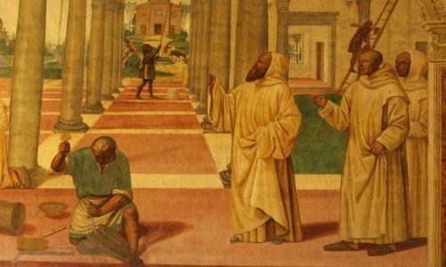 WłOCHY / Toskania / Klasztor Monte Oliveto Maggiore / Freski Sodomy