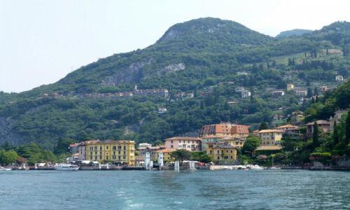 Zdjęcie WłOCHY / Lobmardia / Jezioro Como / dopływamy do Bellagio