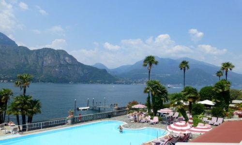 Zdjęcie WłOCHY / Lombardia / Jezioro Como / widok z tarasu Villa Serbeloni