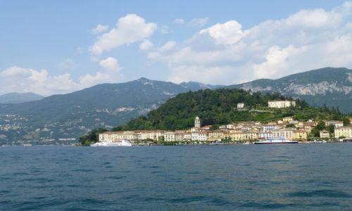 Zdjęcie WłOCHY / Lombardia / Jezioro Como / Bellagio połozone na końcu półwyspu